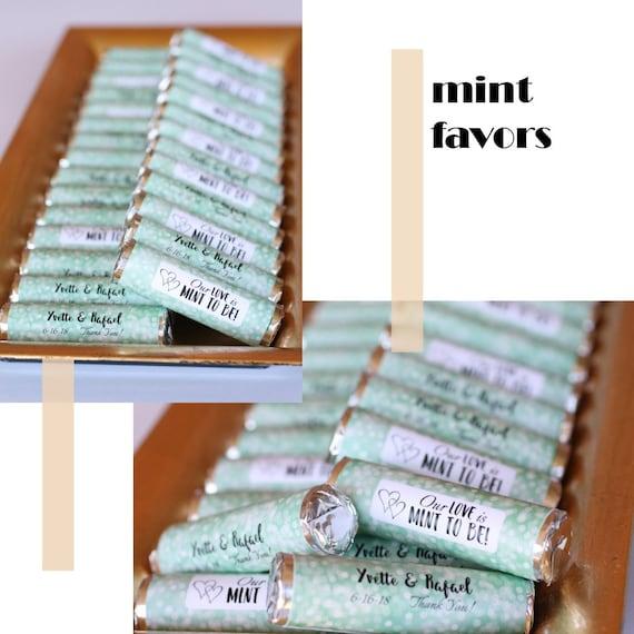 Hochzeitsgeschenke Mint Rollen Mit Personalisierten Etikett Etsy