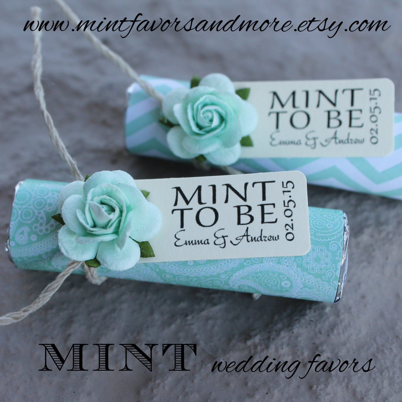 Mint Wedding Favors Set Of 110 Mint Rolls Mint To Etsy