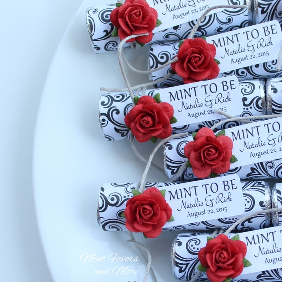 Red wedding mint to be favors with personalized tag wedding | Etsy