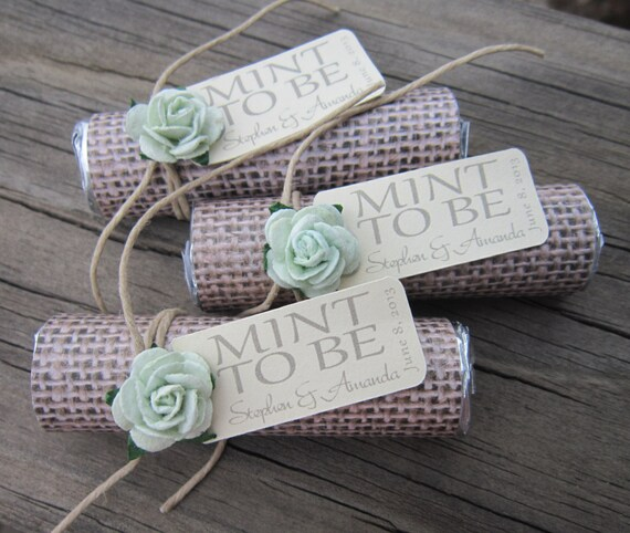 Make Your Own Wedding Favor Ideas: Mint Wedding Favors Set Of 24 Mint Rolls Mint To