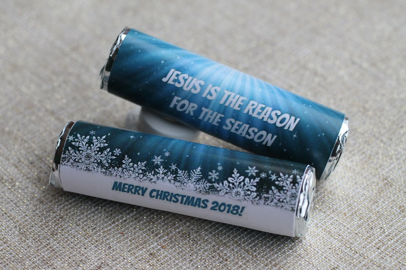 Merry Christmas mints, small gift, teacher gifts, Jesus is the reason for  the season, holiday mint wrappers
