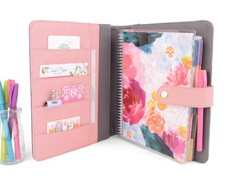 ANGEL- Two Tone Planner Cover for Coil Bound / Discbound Planners like Erin Condren, Plum Paper, Bloom Daily Planners & Happy Planners!