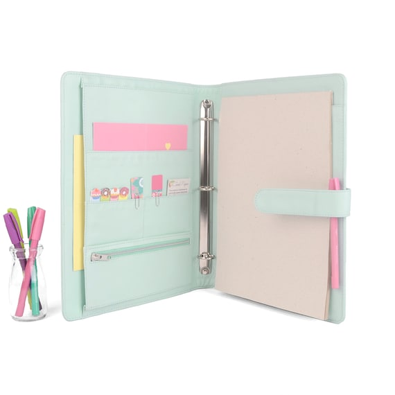 MAISON A4 Leather Ring Binder Planner / Organizer 3 Or 4