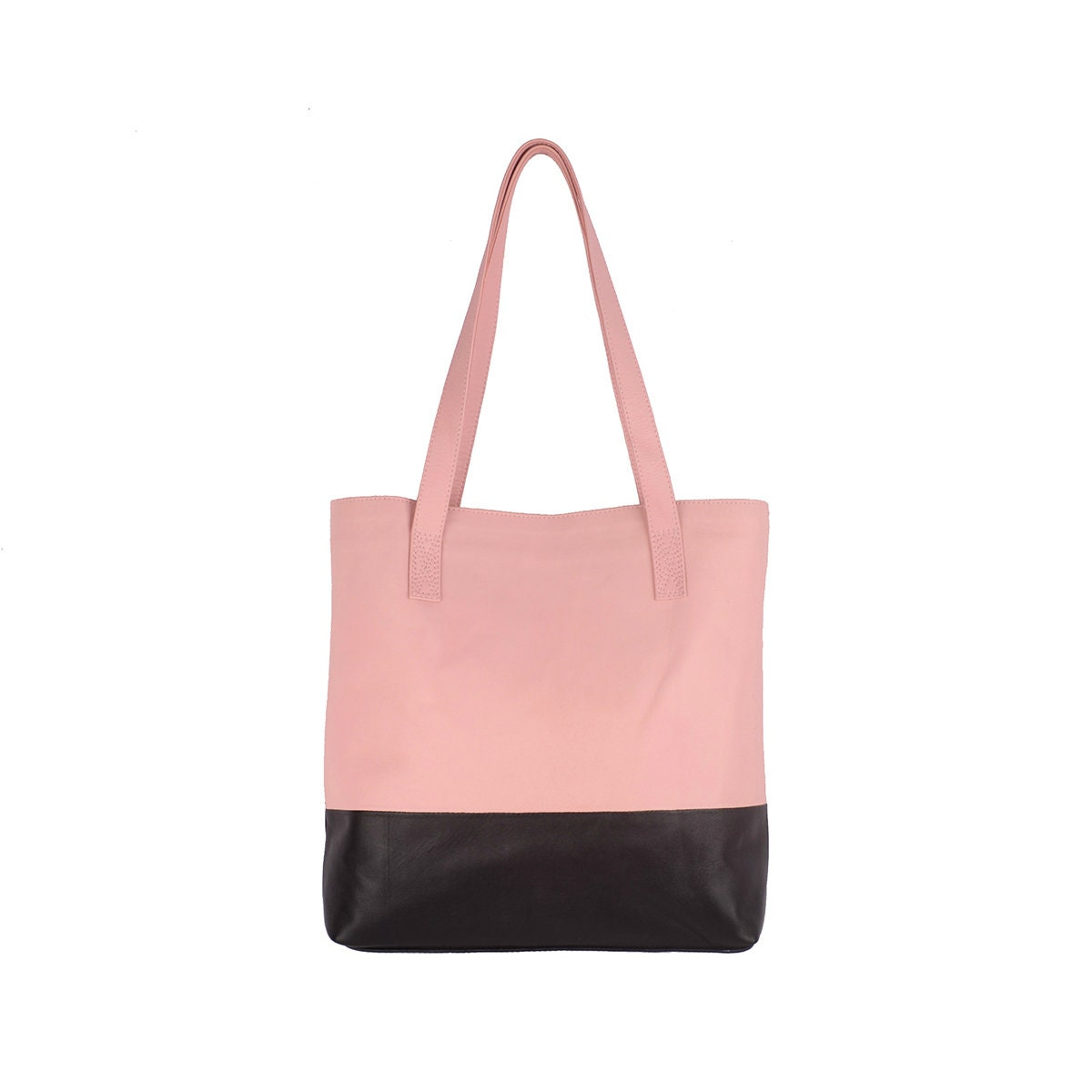 89122a21888 LUSH- Leather Tote Bag / shoulder bag / planner bag. Available in different  colors.