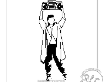 Lloyd Dobler. Say Anything Modern Film Movie Character Cross Stitch Pattern. Digital Download PDF.