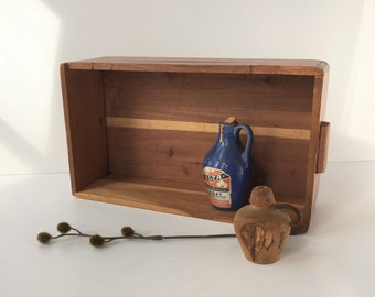 Small Cedar Box, Vintage Cedar Box No Lid, Miniature Lane Hope Chest, Remote Control Storage, Rustic Wooden Box, Cedar Trinket Box