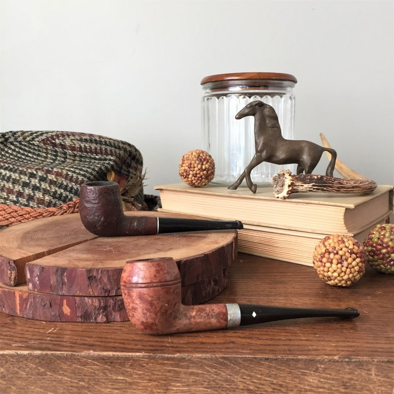 Two Estate Smoking Pipes by Dr Grabow and WDC and Glass Humidor Jar