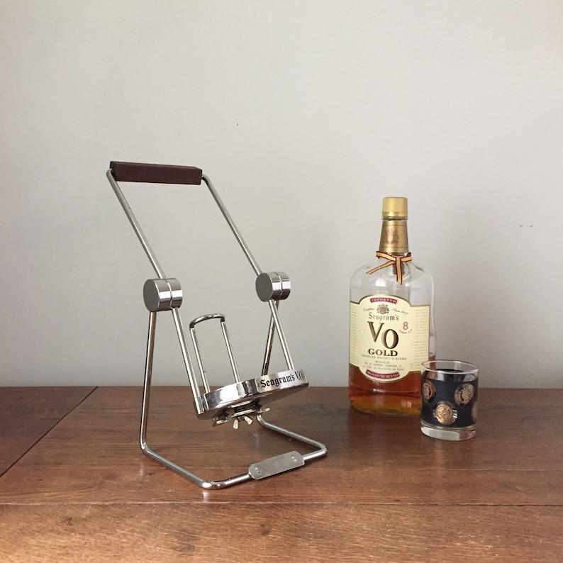 Vintage Seagram's VO Whisky Bottle Stand Tipper or Pourer image 0