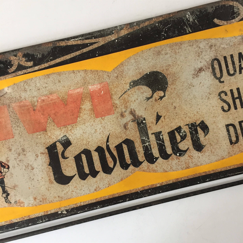 Signe De Vintage Cavalier Publicité Kiwi Chaussure zZxzrqdw