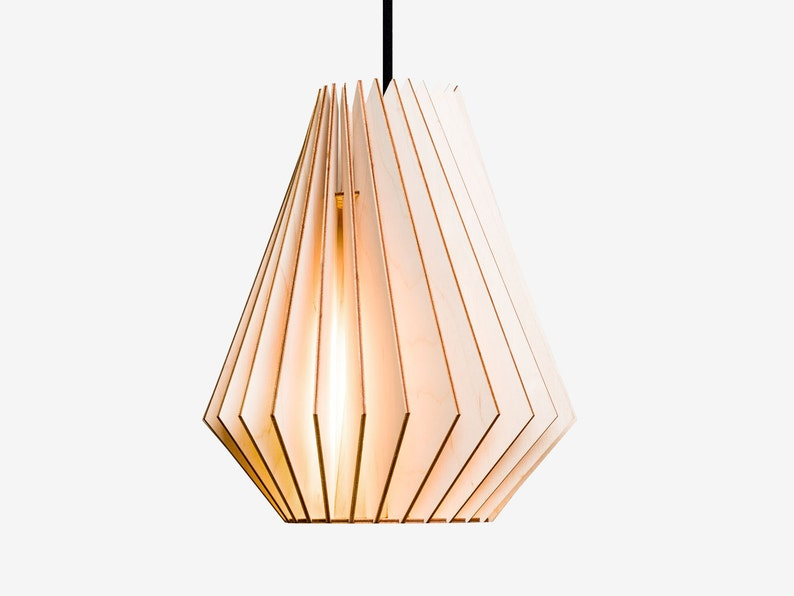 HEKTOR wood lamp  wooden lampshade pendant lighting hanging image 0