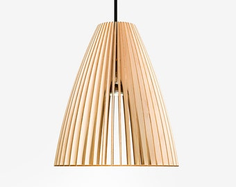 TEIA wood pendant light, woodlamp, lampshade birch