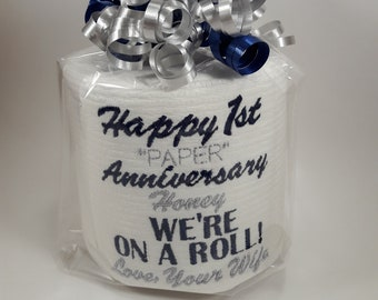 Anniversary gift personalized free gift for him or her, 1st Anniversary toilet paper, Custom first tp, Funny Anniversary Gag Gift Adult gift