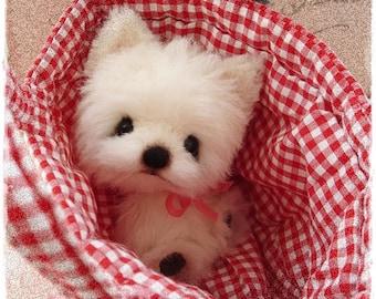 """PDF Instant Download - Pattern / E-Book Westhighland Terrier Puppy  """"  FLAKE """" :) - 5 Inch - Eileen Seifert - Teddy-Manufaktur.de"""
