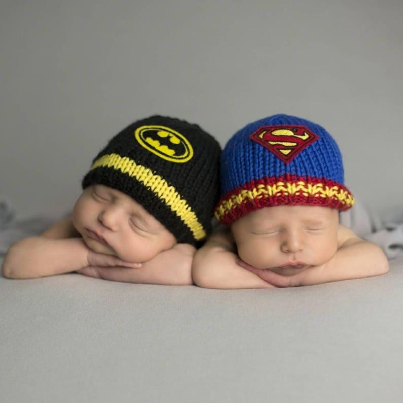 7ad506eabb8 Newborn Twin Baby Hats Twin Boys Baby Gift Baby Superman