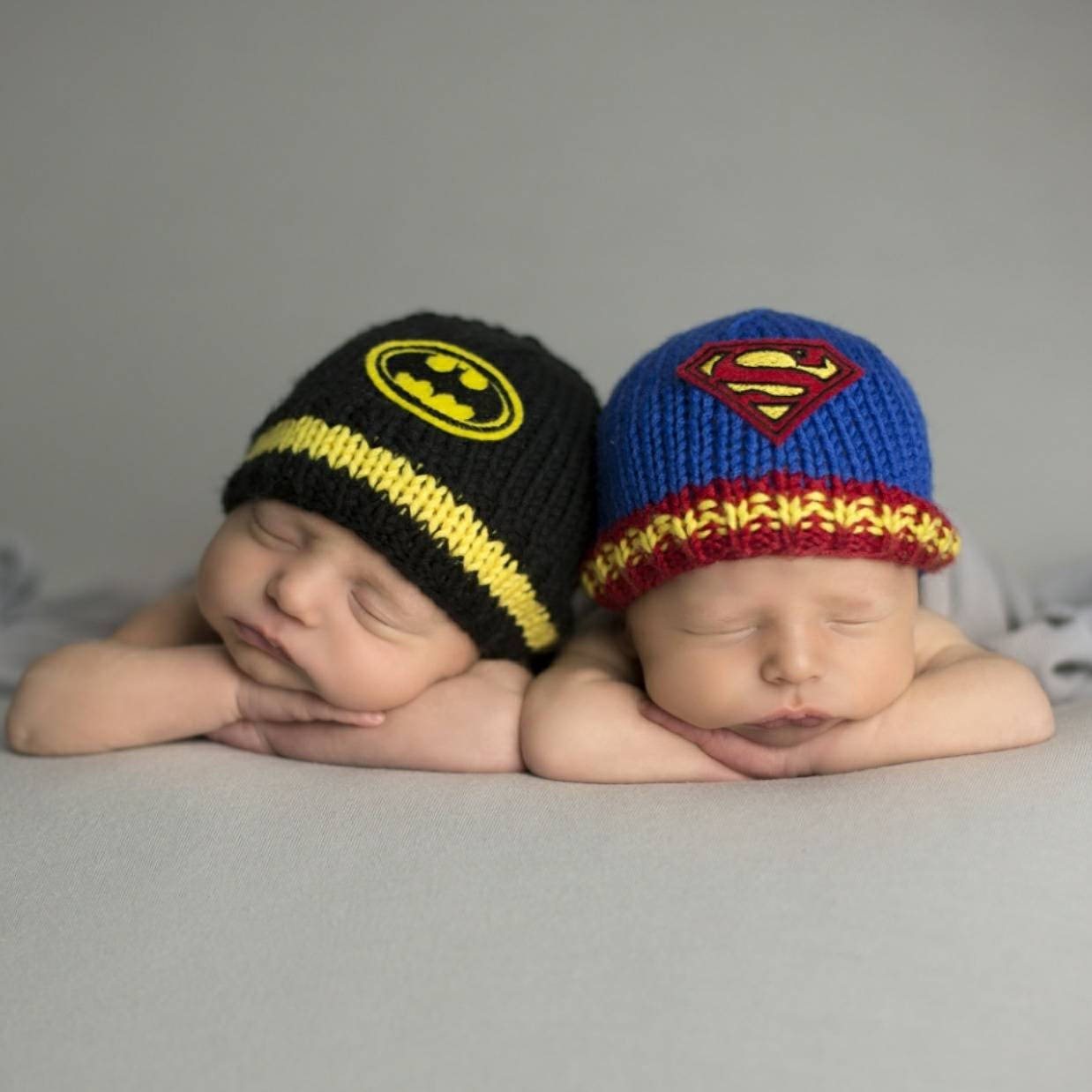 56007367ca3 Newborn Twin Baby Hats Twin Boys Baby Gift Baby Superman
