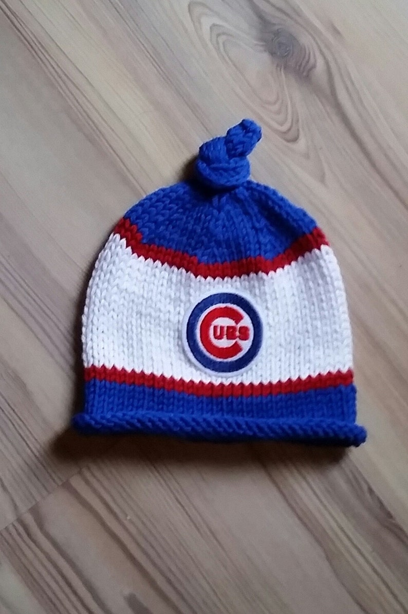 c0fab5f6ab7 Chicago Cubs Baby Hat Newborn Photo Prop Chicago Cubs Knit