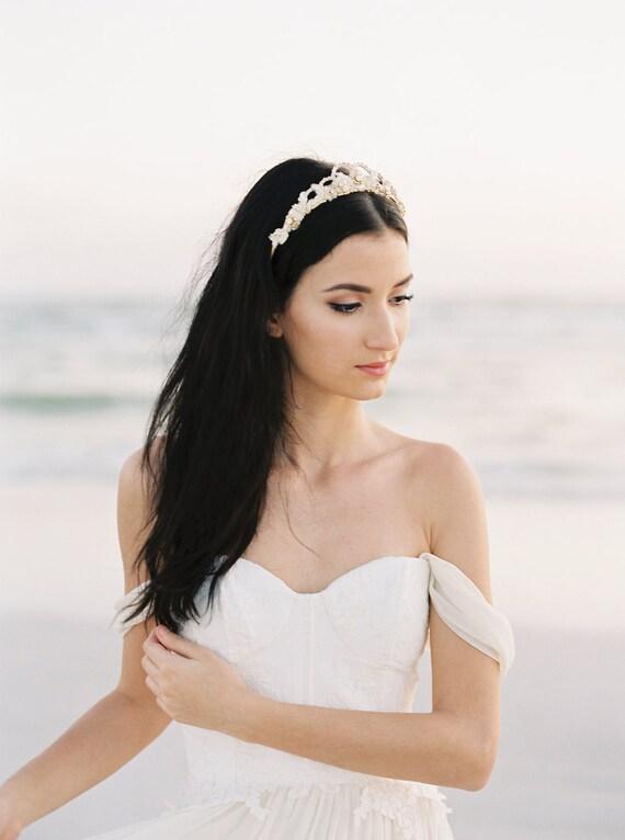 Goldene Krone Gold Krone Goldene Hochzeit Diadem Braut Haar Accessoire