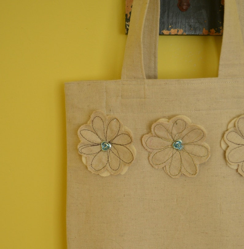 summer bag tote bag gift for grandma fabric bag gift for mum cotton tote bag shopping tote bag natural coloured bag Everyday Bag