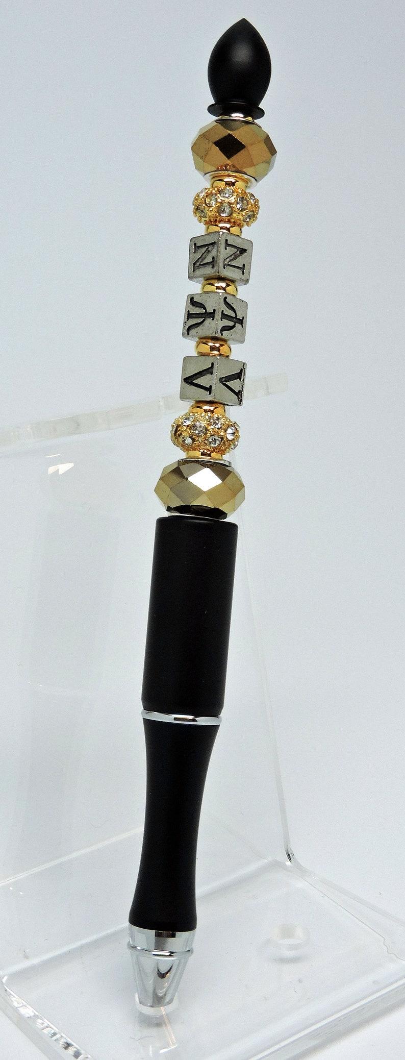 NEW Lambda Psi Nu Sorority Beaded Ballpoint Pen image 0