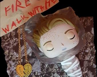 Necklace Heart Best Friends Twin Peaks Prop Replica Laura Palmer/James Hurley Set of 2 Necklaces
