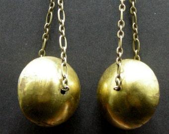 Big Bold Brass Drop Earrings