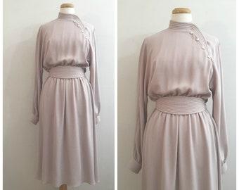 6567575f17c Vintage PIERRE CARDIN MAUVE Dress   size Small - Medium