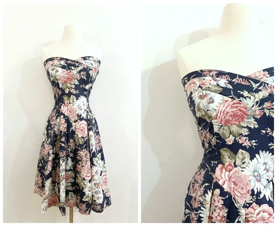 Vintage FLORAL LAURA ASHLEY Dress / size Small