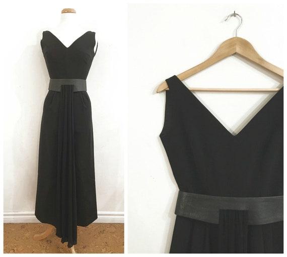 Vintage BLACK FORMAL EVENING Dress / size Small