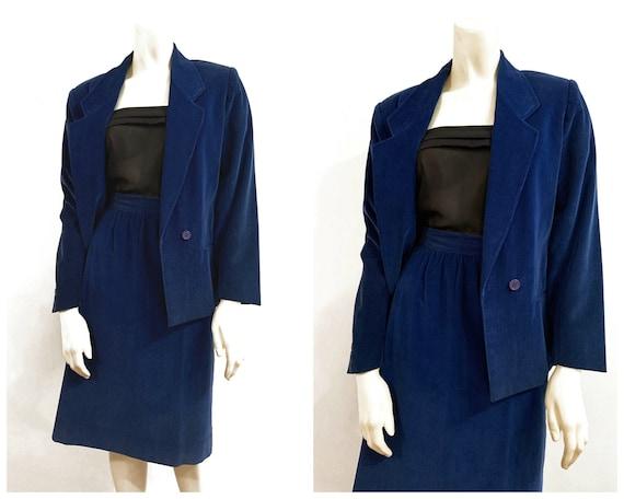 Vintage PORTS BLUE CORDUROY Suit / size Small