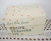 Vintage Recipe Box Ladies 39 Home Journal 1960s Tin