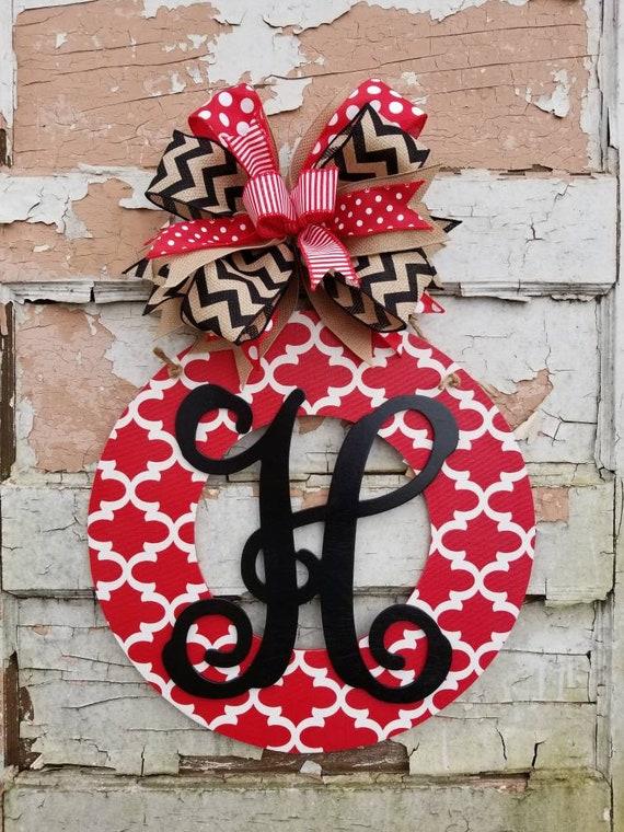 Front Door Decor Valentine S Day Wreath Personalized Door Etsy