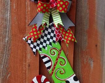 Christmas Stocking Door Hanger Front Door Decor Christmas Decoration Christmas Door Hanger Christmas Stocking