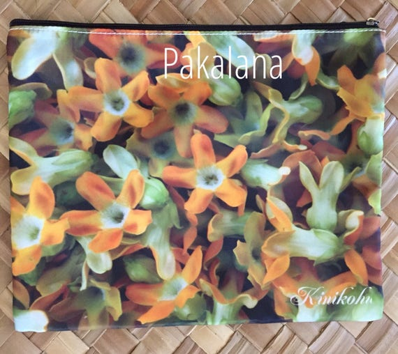 8x10 Lei Art Deluxe clutch with interior pocket Polyester