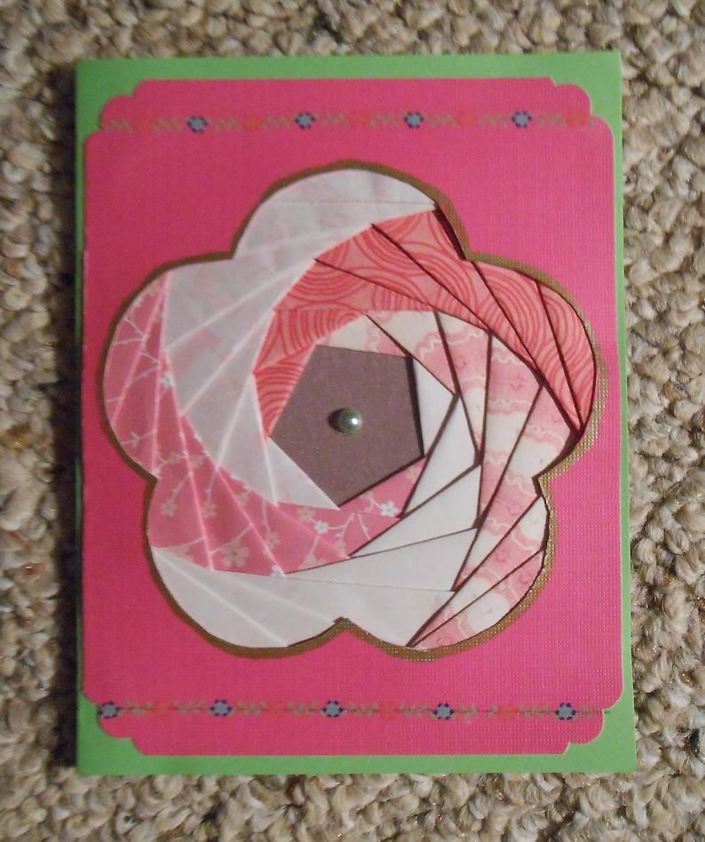 Flower Iris Folded Card