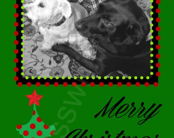Christmas/ Holiday Photo Card- 4x8