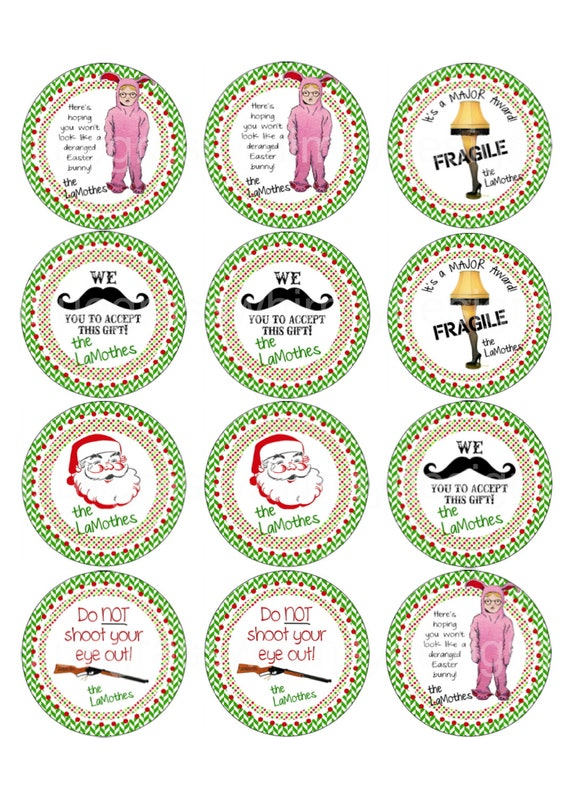 A Christmas Story/ Retro/ Mustache/ Vintage Gift Tags/ Labels | Etsy