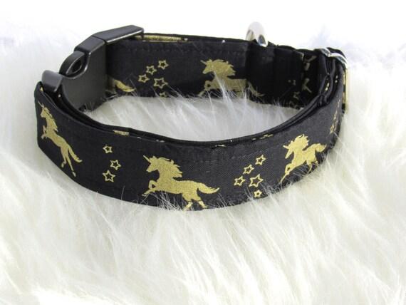 Licorne or collier pour chien, collier de chien, chien en laisse, chien noeud papillon, collier de chien réglable, licornes - annonce pour collier de chien seulement