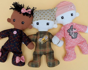 Cloth Baby doll rag doll pdf pattern with detailed instructions - Baby