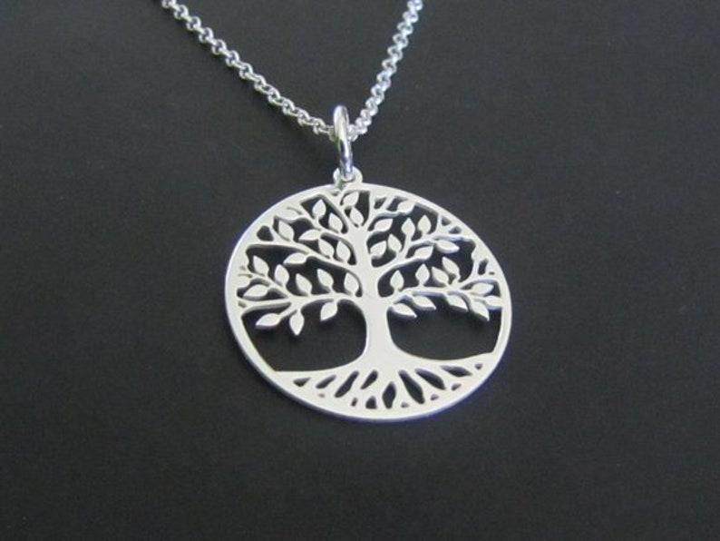 Tree of Life Necklace Tree Necklace Sterling Silver image 0