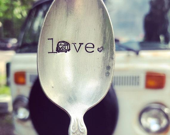 Hand Stamped Volkswagen Bus Spoon Vintage spoon