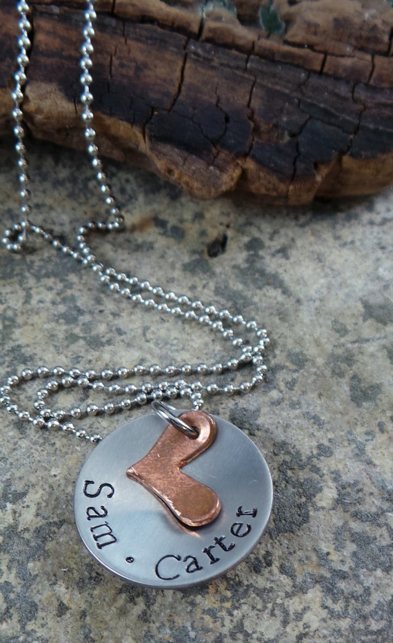 This Little Heart Of Mine, Hand Stamped Mother Necklace, Mothers Day Gift