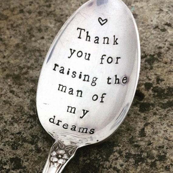 Hand Stamped Man of My Dreams Vintage spoon hand stamped