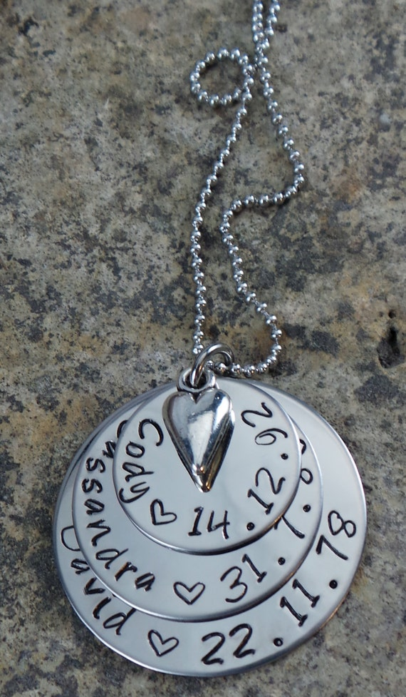 Hand Stamped Family Necklace