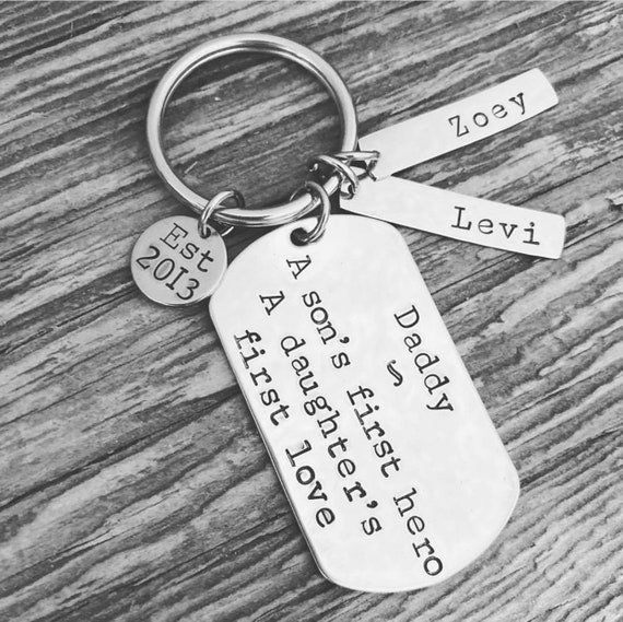 Personalized Key Chain for Dad