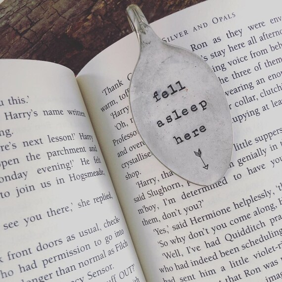 Hand Stamped vintage Spoon Book Mark
