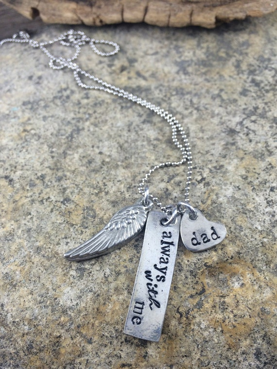 Memory Hand Stamped Necklace, Always with me
