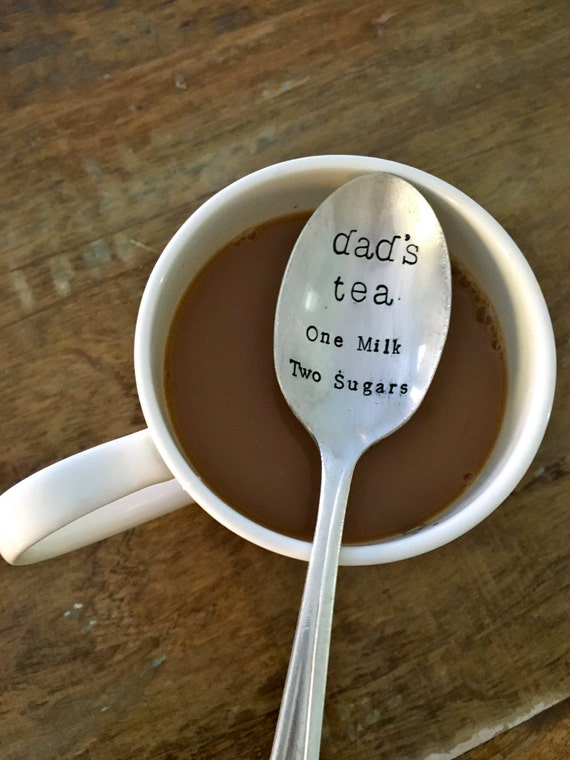 "Hand Stamped ""Tea Order"" Vintage spoon hand stamped with how you take your coffee or tea"