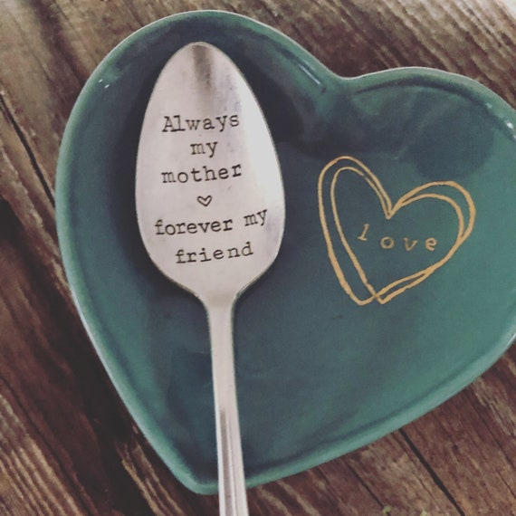 Mother Friend Hand Stamped Spoon