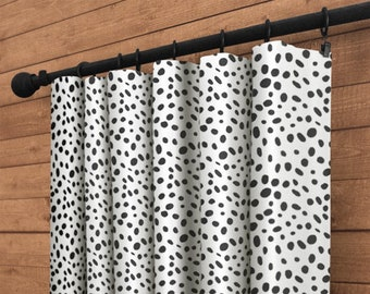 Curtains Living Room Window Treatments Nursery Baby Decor Curtain Panels Togo Black White Shown