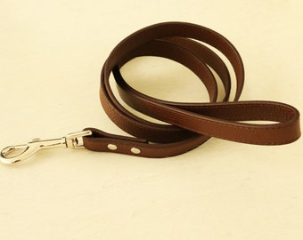 Brown dog Leash, Pet accessory, brown Leather leash,  Dog Lovers, Dog Leash, brown dog accessory, Custom leash